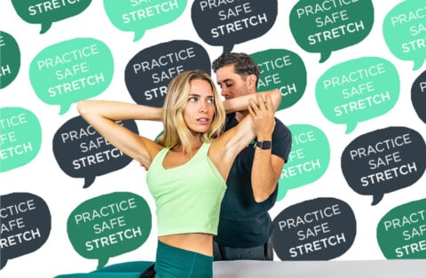 Practice Safe Stretch hover